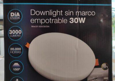 Nuevos plafones LED sin cerco 30w